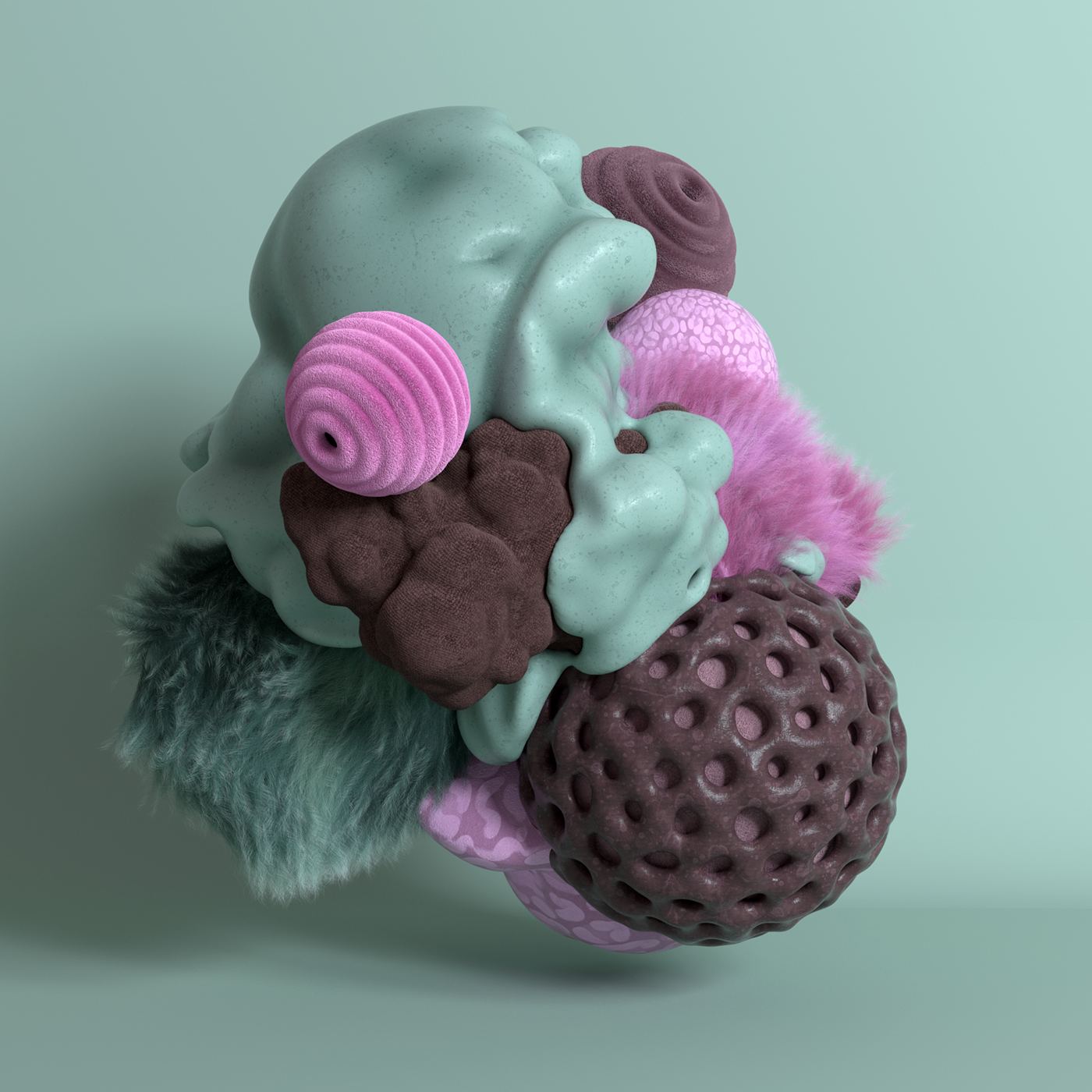 cinema 4d organic volumes cloth hair 3D 3d design Octane Render textile fusion