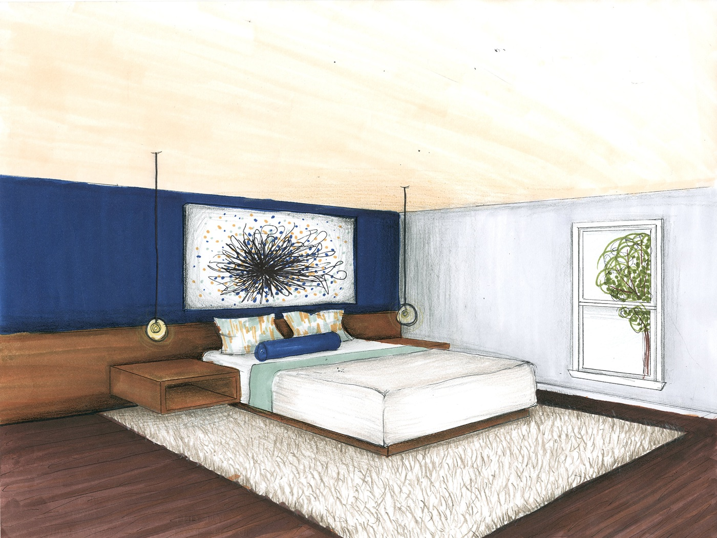 Renders 3d For Master Bedroom Project: Marker Rendering Project On Behance