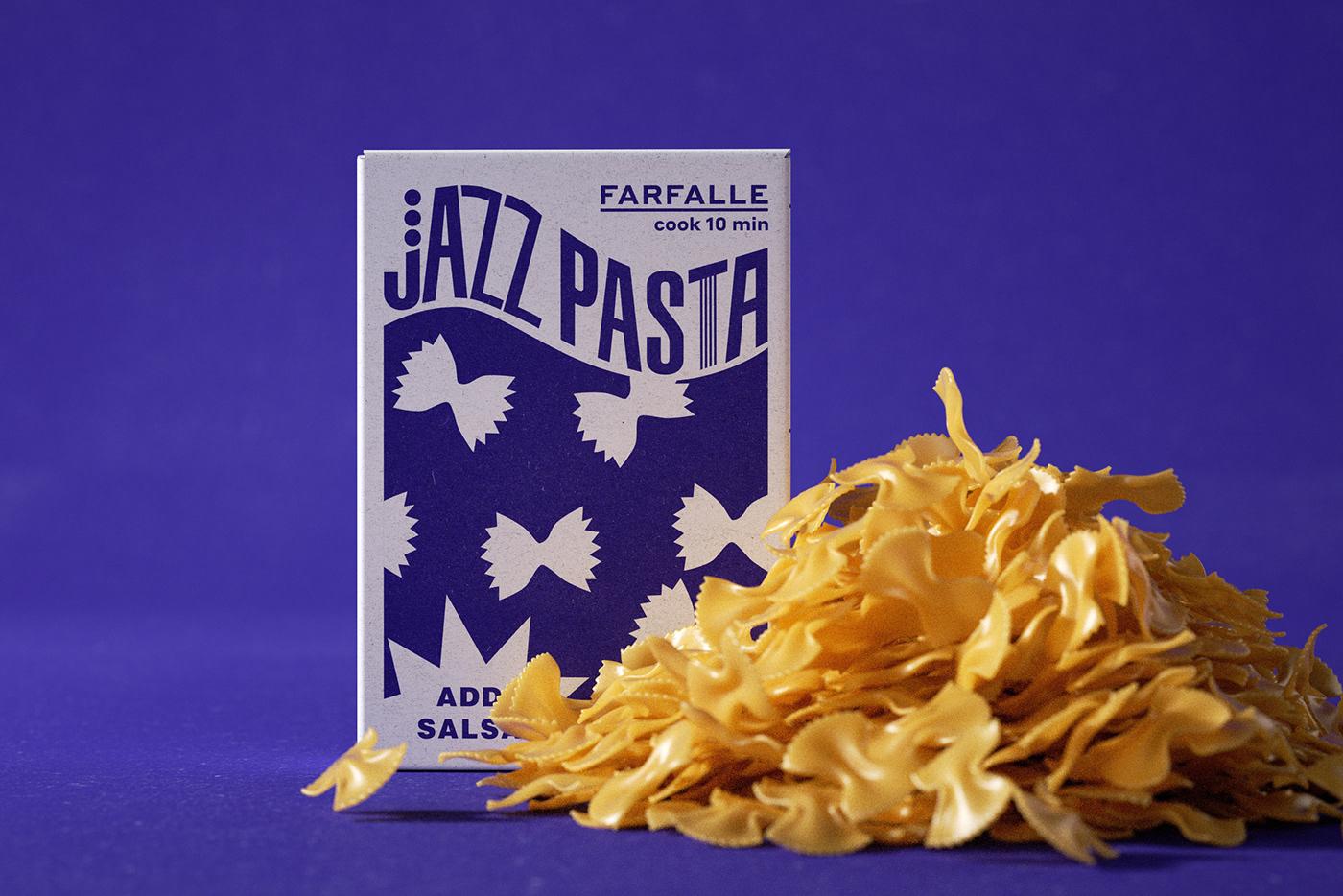 jazz music Packaging Pasta typography