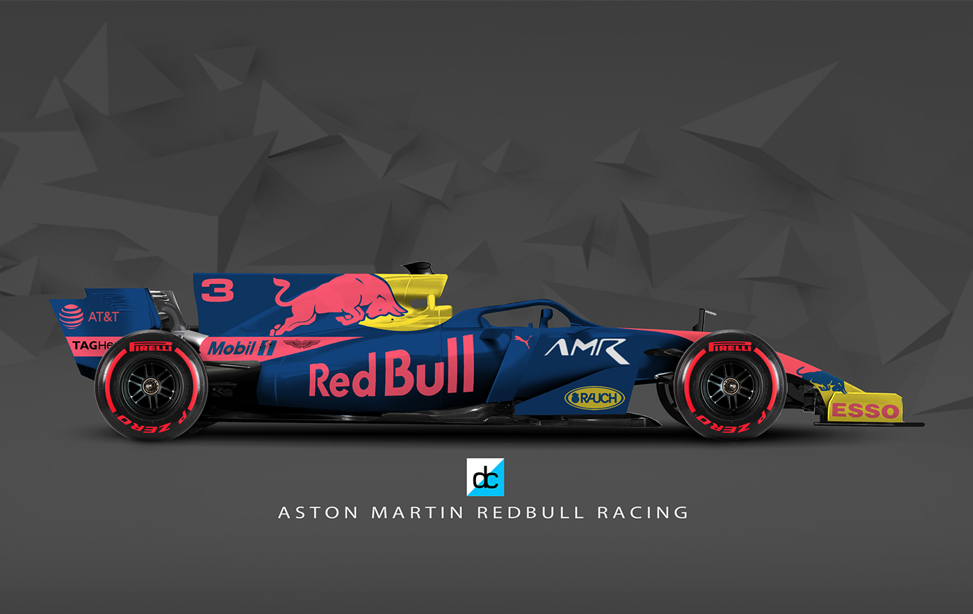 Renault F1 Jobs >> 2019 AMR Red Bull Concept Livery. on Behance