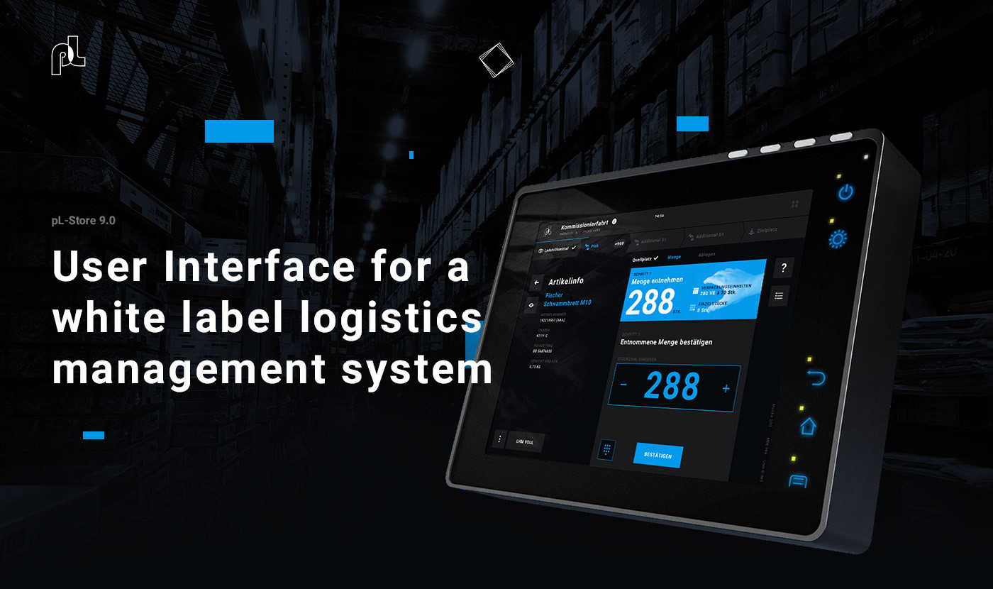 Interface logistic industry future clean flat White Label system modular mobile