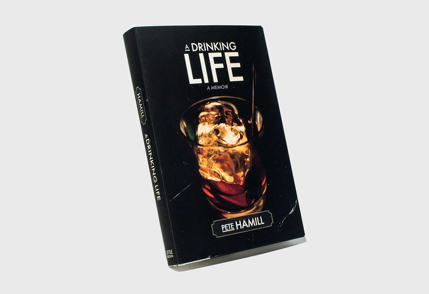 book jacket book jacket book design a drinking life Pete Hamill