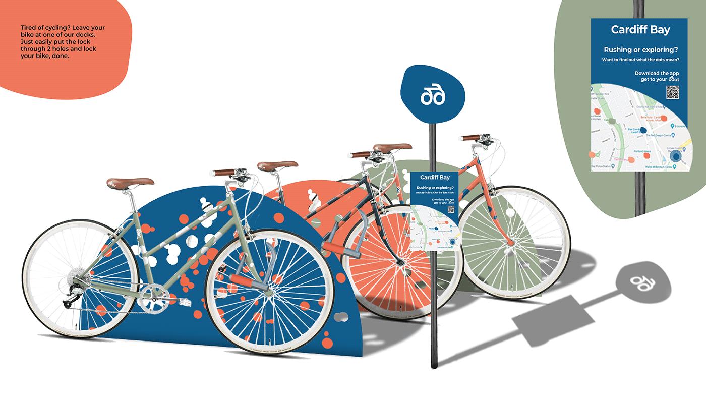 Bike branding  cardiff visual identity