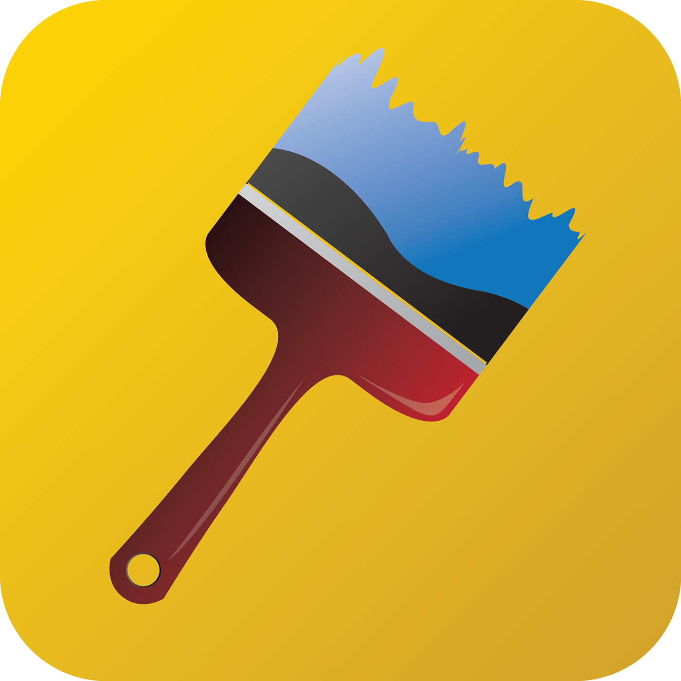 Paint brush app icon on behance for App to paint on pictures