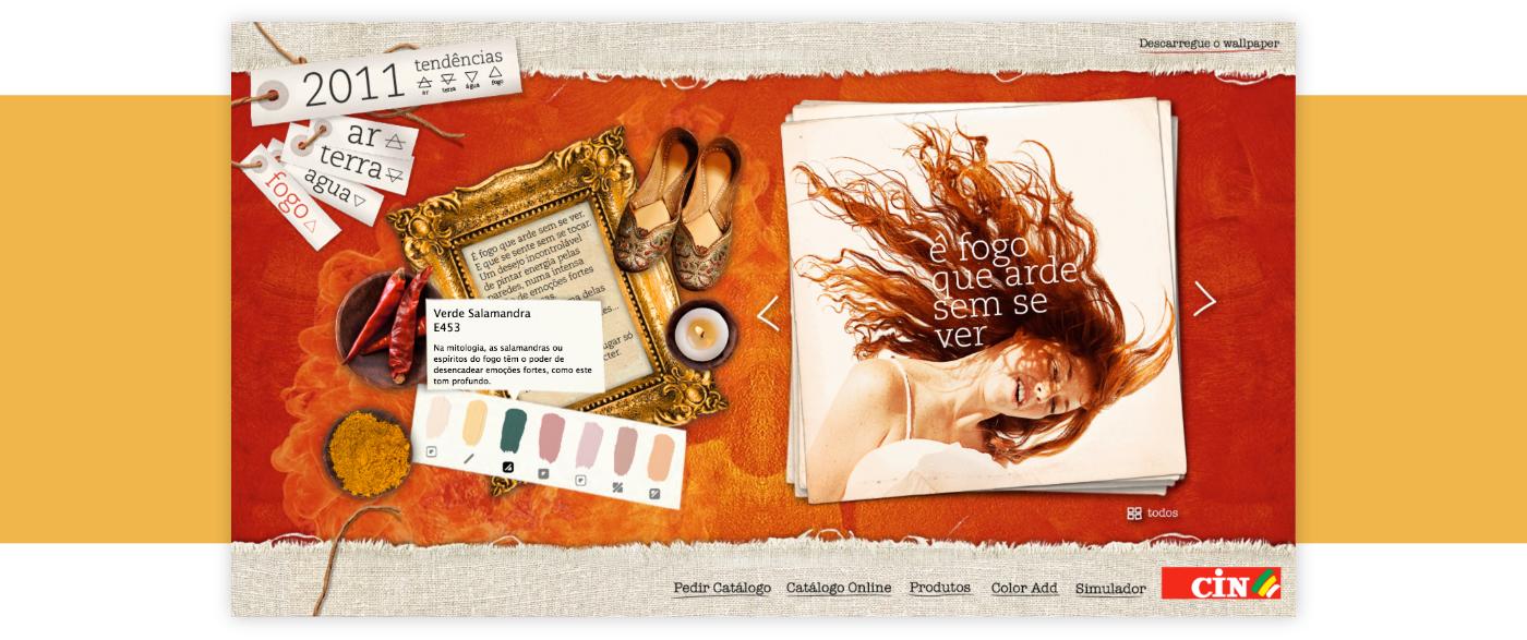 Website colour catalog HTML css js tablet Web
