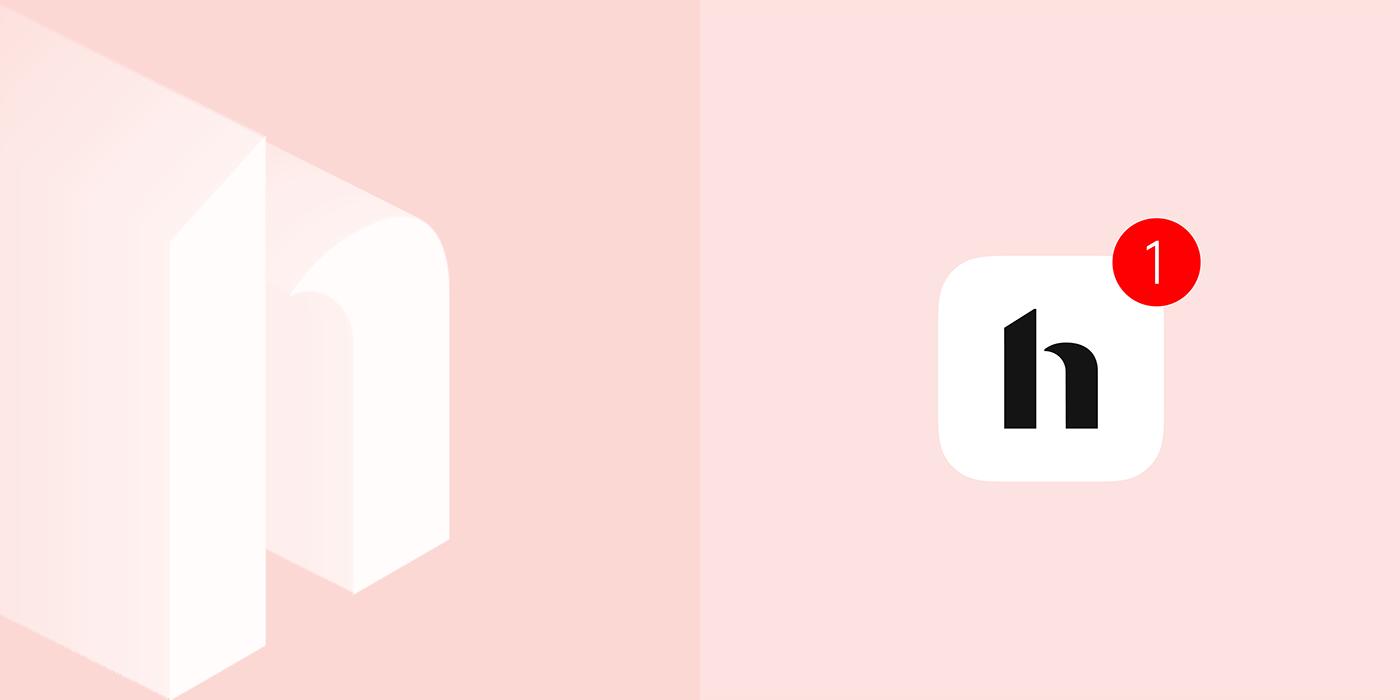 Hutch Interior design app wordmark Logotype Style minimal home logo