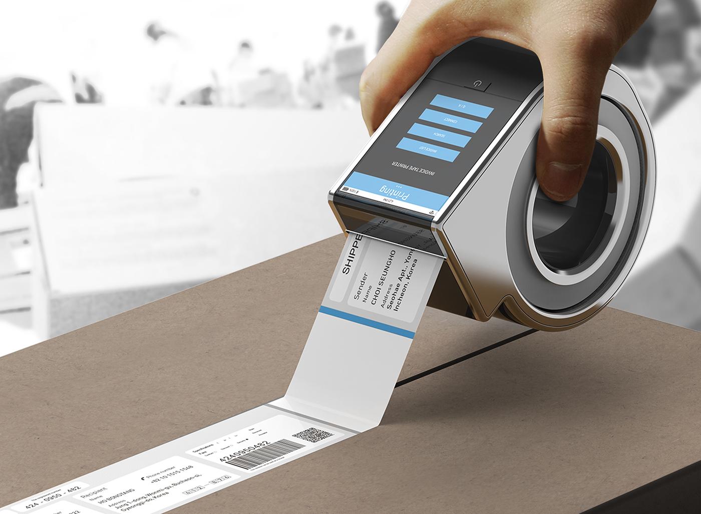 Invoice Tape Printer On Behance - Invoice printer