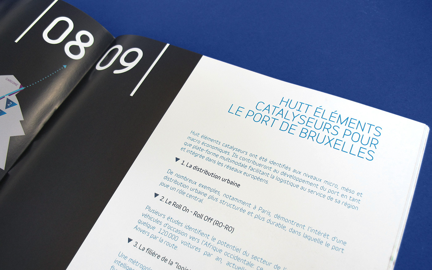 offset CMYK report brochure recycled paper Guide port corporate harbour brussels