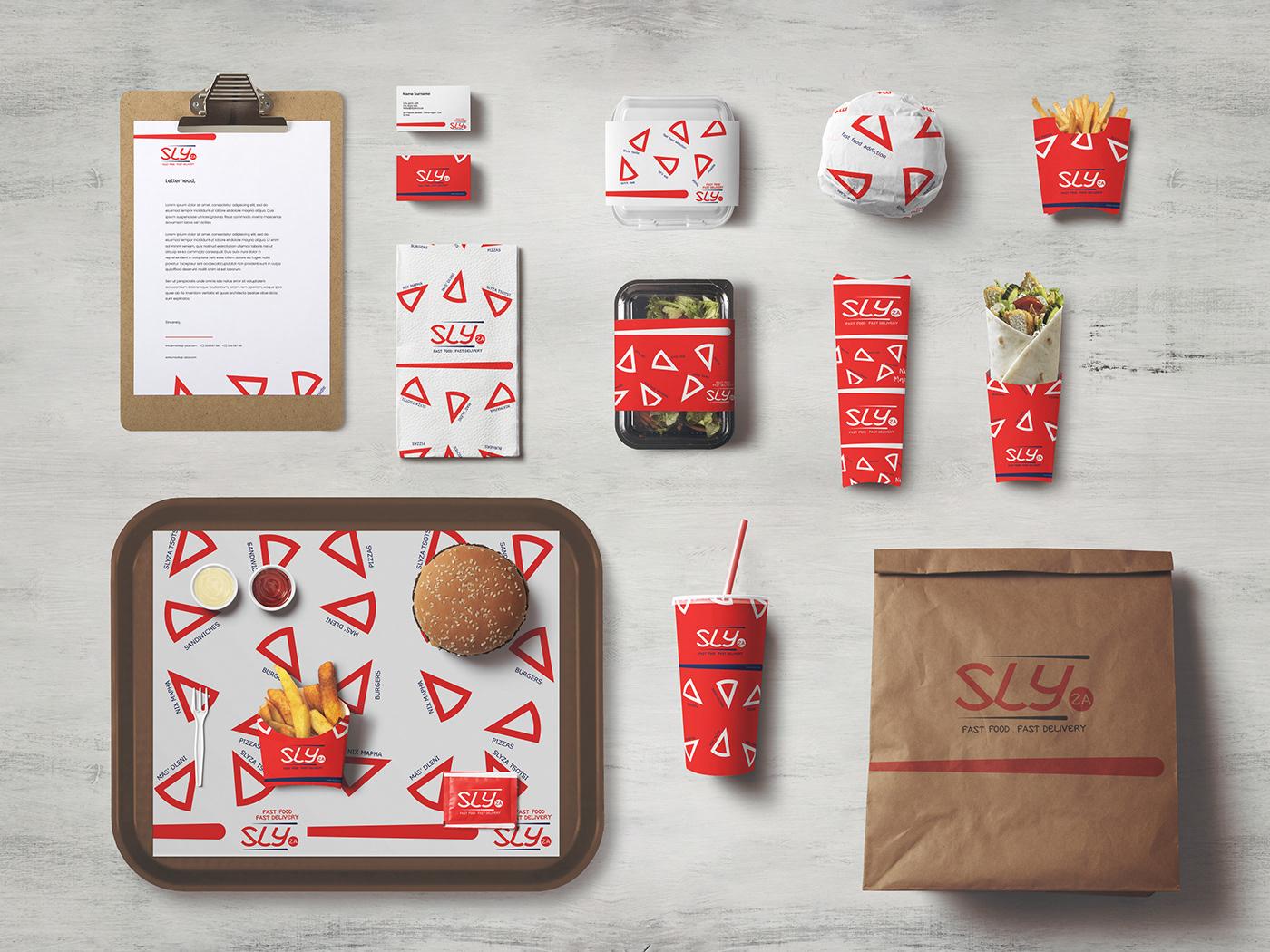 Identity Design pantsula restaurant brand sandwich brand Typographic Logo red and white brand fast food brand food brand food truck brand pizza brand