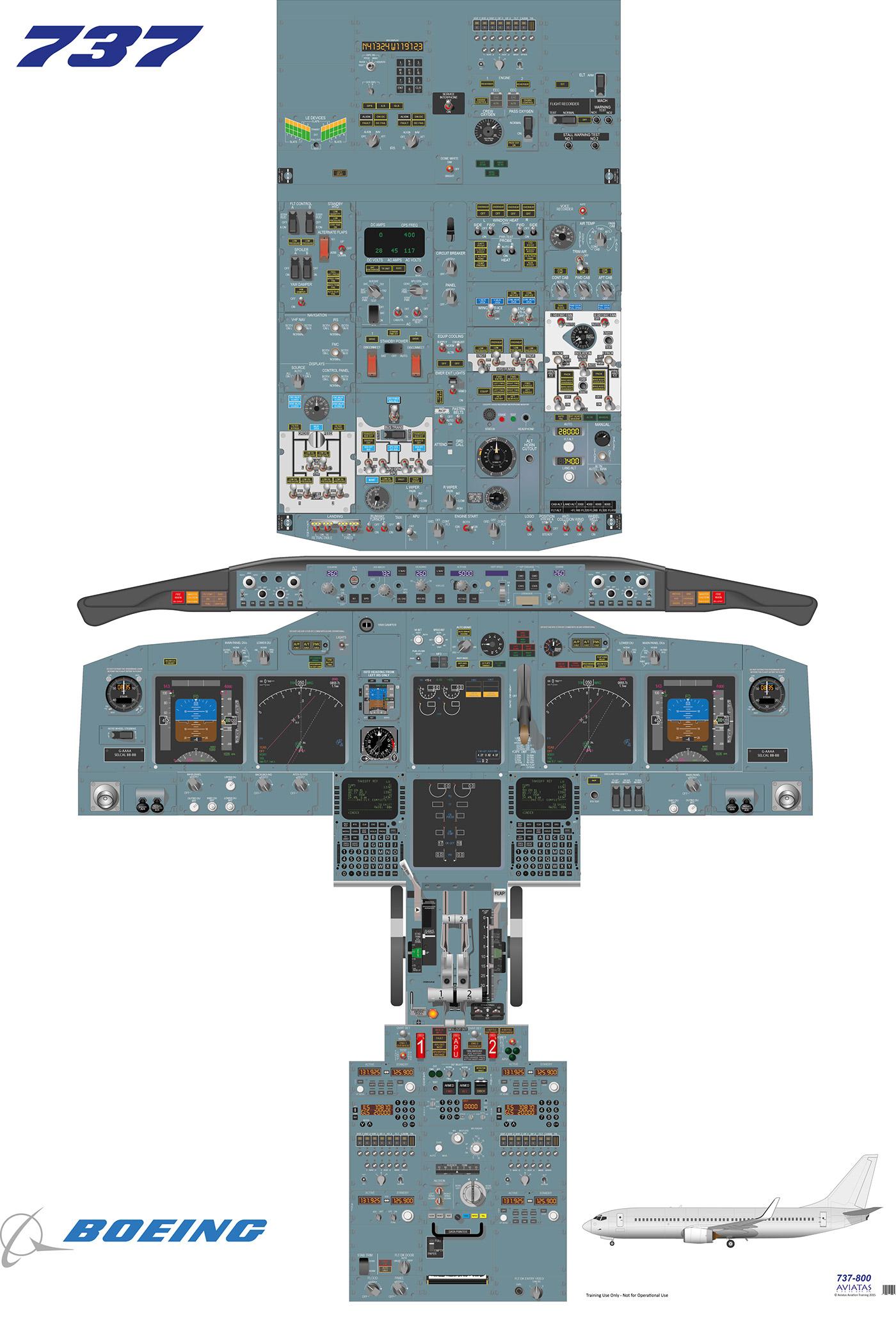 Boeing 737800 Cockpit on Behance