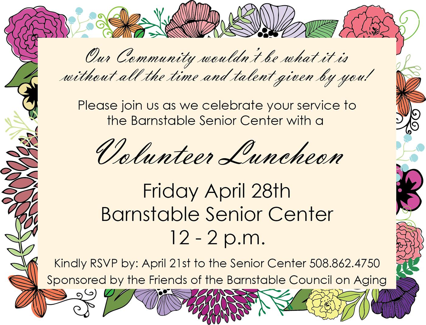 Volunteer Luncheon Invite On Behance