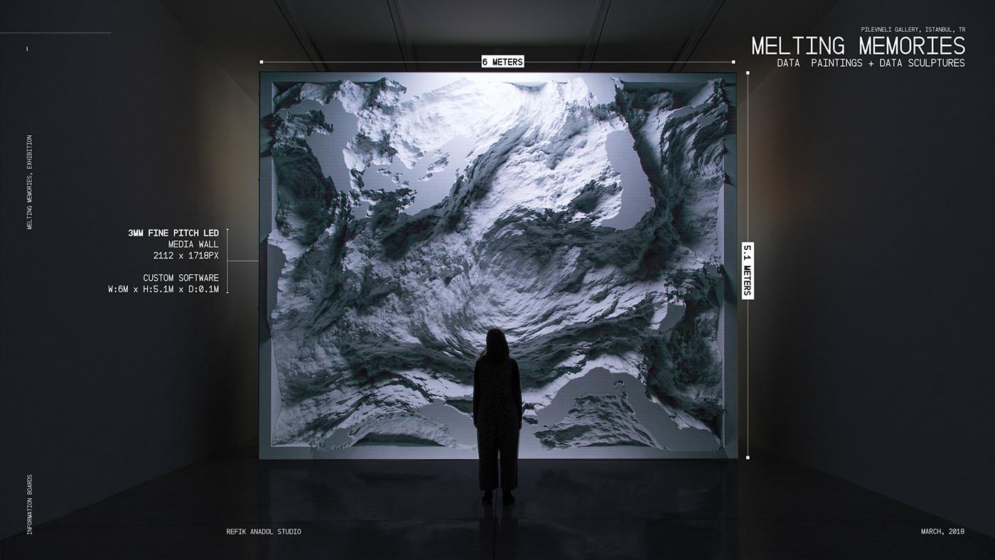 Data data sculpture machine learning ai eeg vvvv custom software Exhibition  Media Art gallery