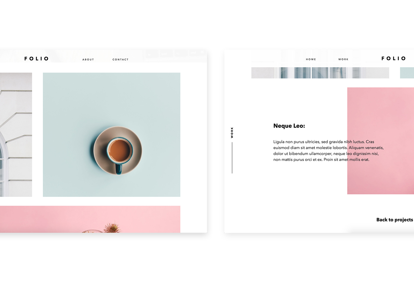 Folio1 adobe muse template on behance view site here download template here maxwellsz