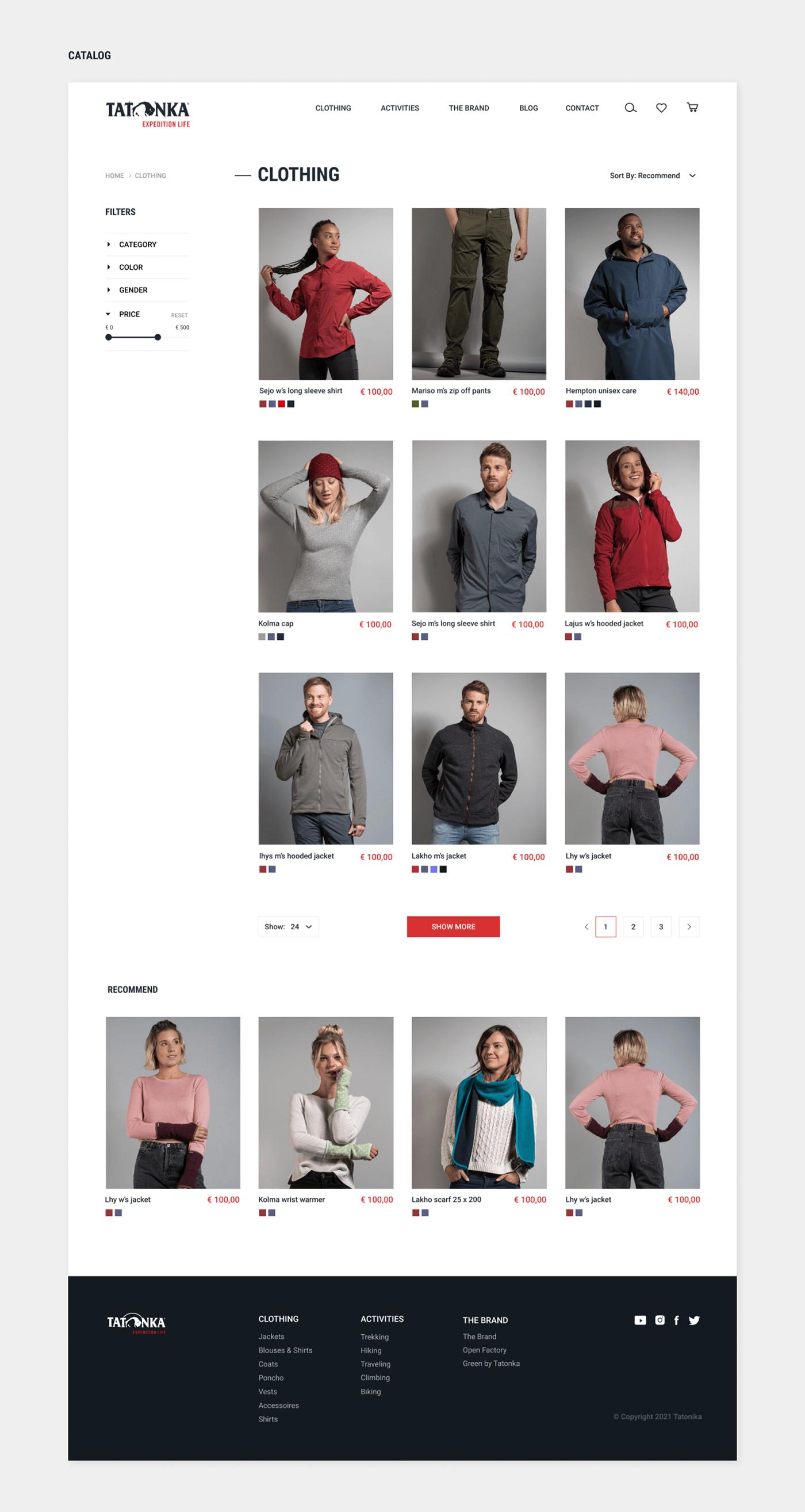 e-commerce store ux/ui Web Web Design  Ecommerce onlinestore