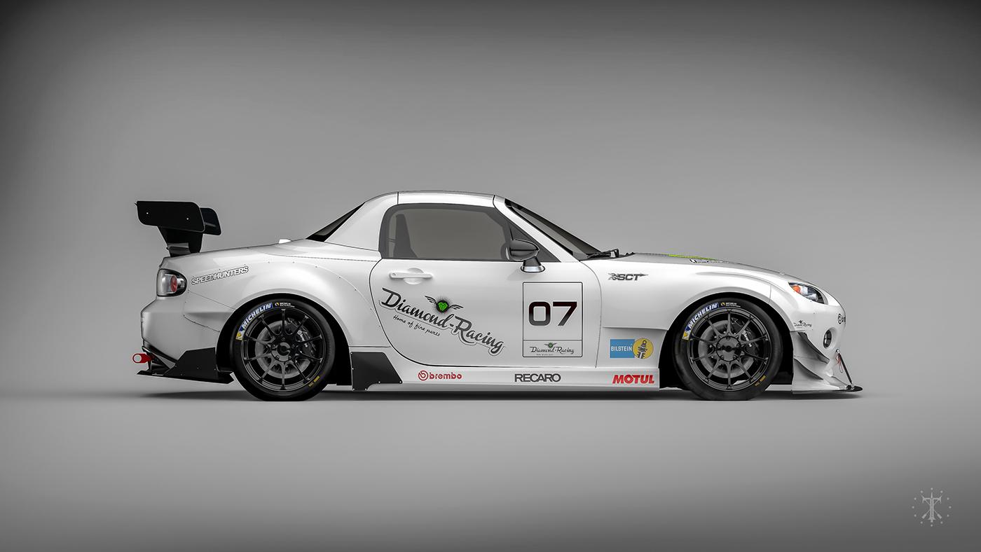 Mazda MX-5 Miata (NC) Widebody kit design  on Behance