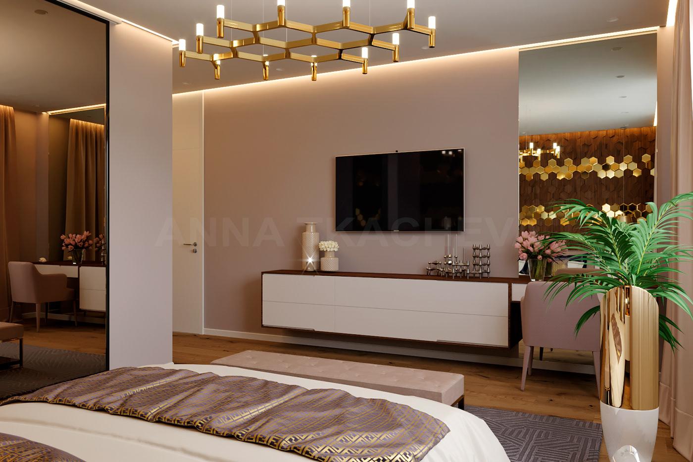 Thai style bedroom design on Behance
