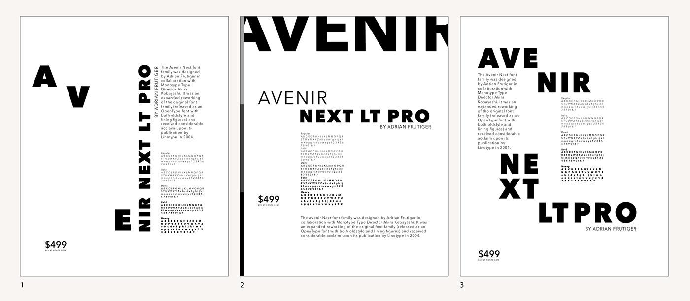Avenir Next LT Pro on Behance