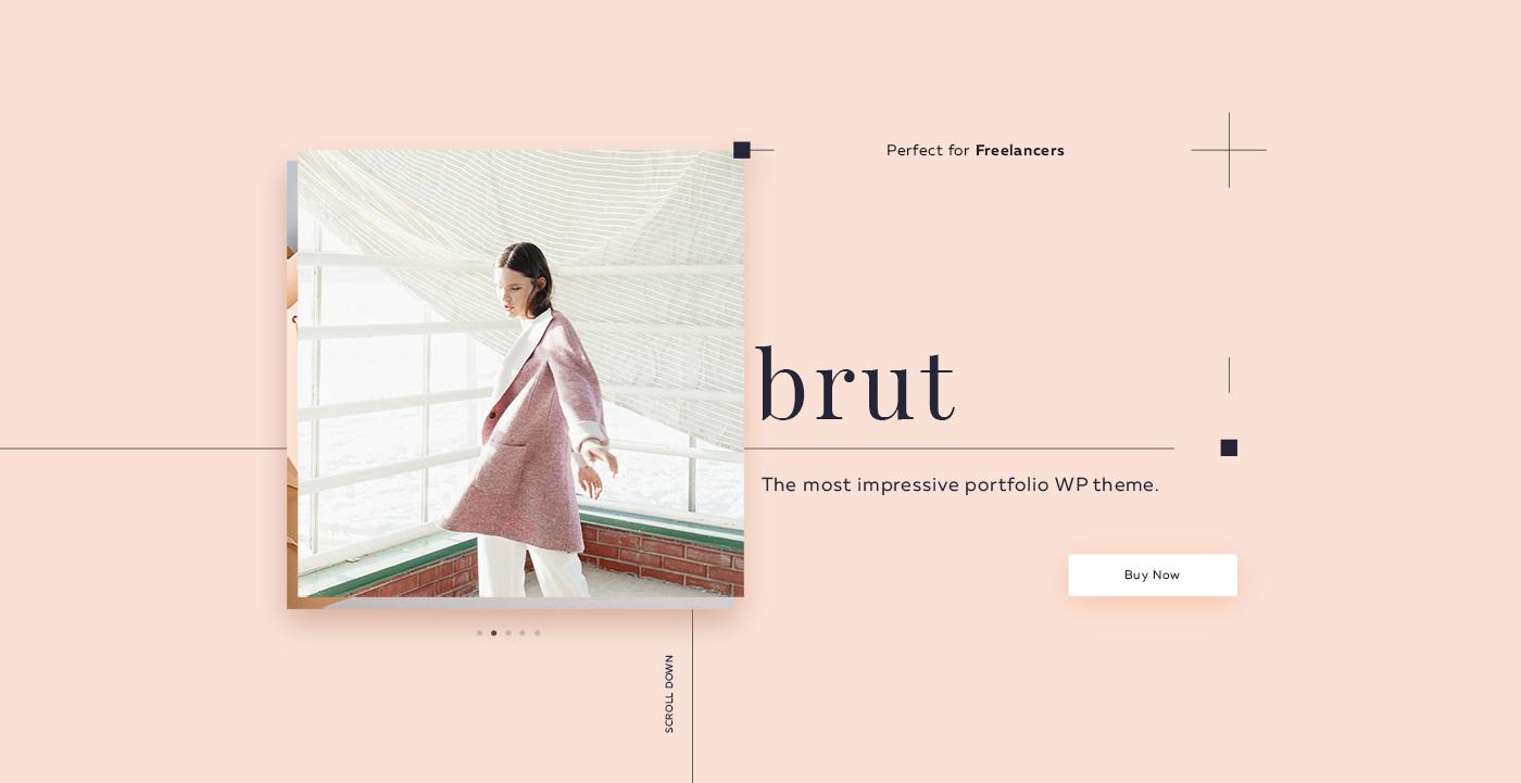 Brut Portfolio WordPress & Landing Page