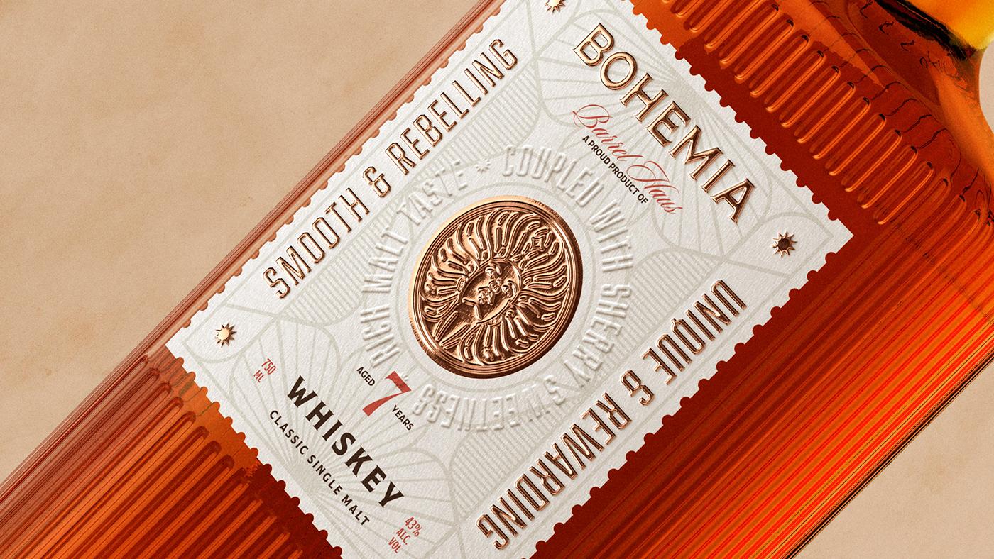 Bohemia label details.