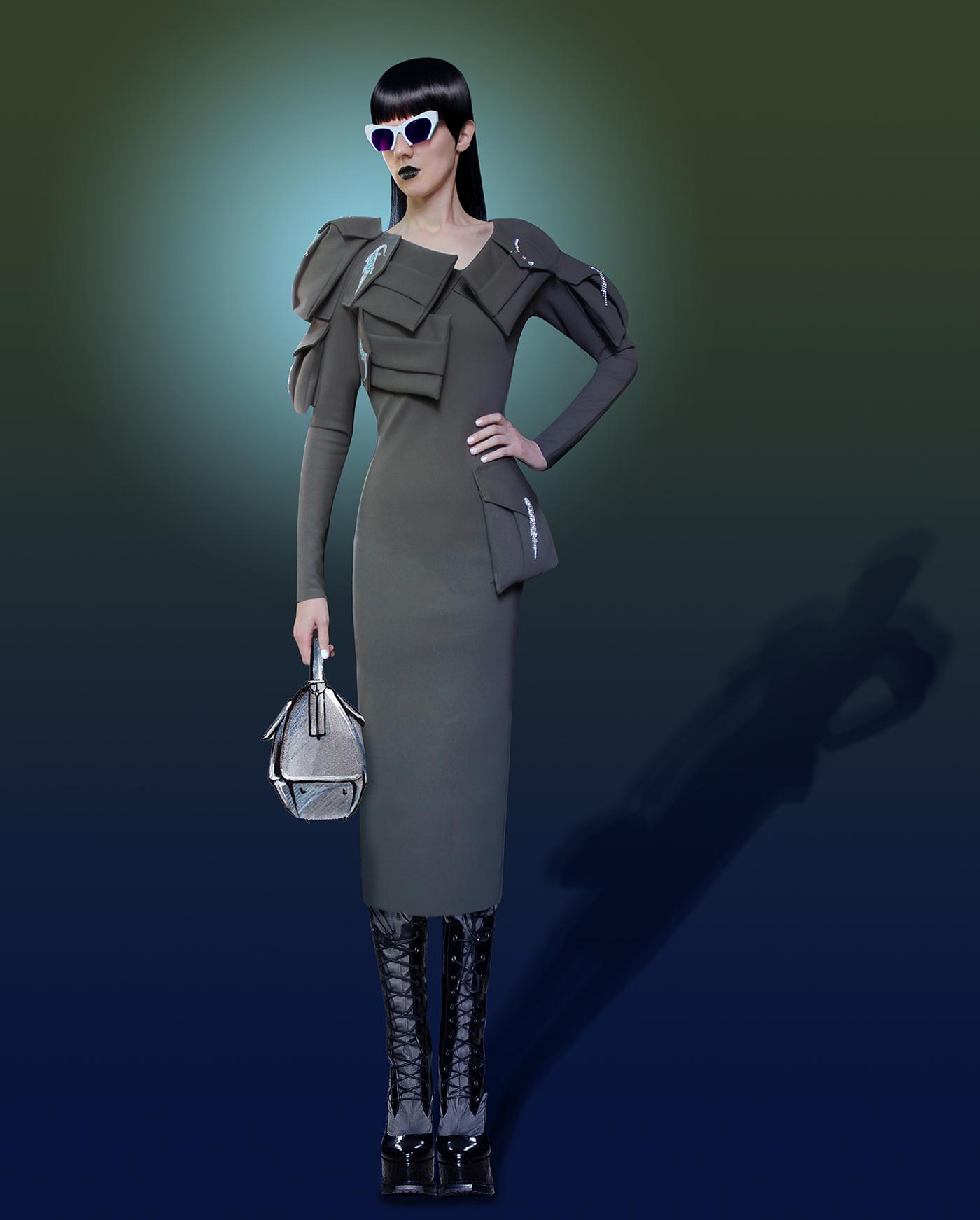 Venus de Milo crocodile milan Italy art painting   dress coat Military Classic