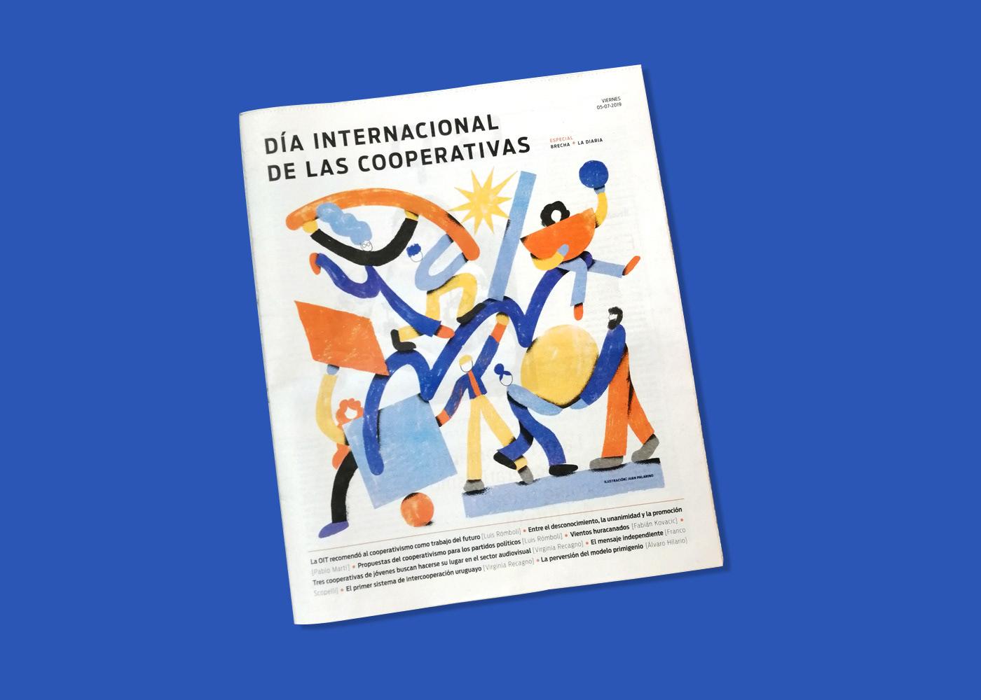 editorial cooperativismo people Work  uruguay gente cooperar color newspaper