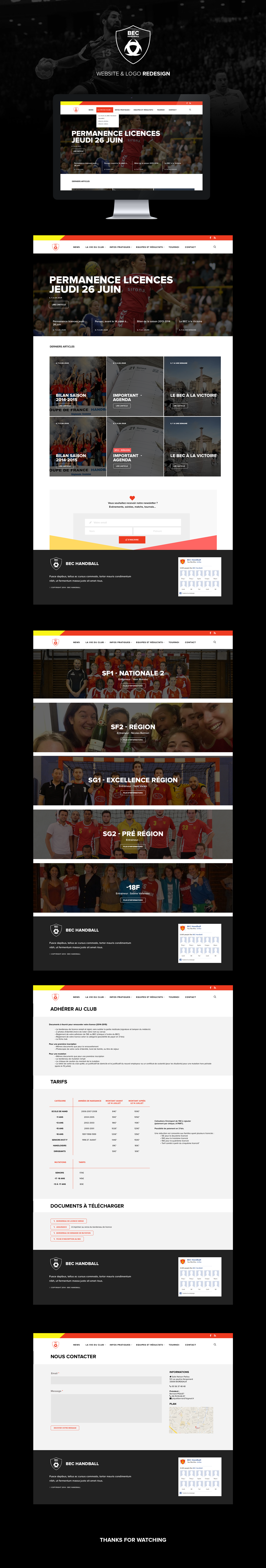 handball game sports Webdesign Website newsletter team