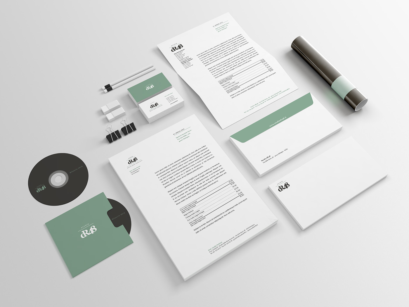 brand accountants firm Stationery photos ArtDirection graphic