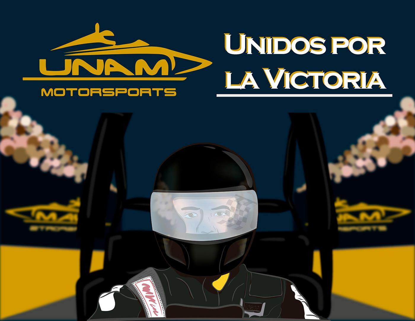 ilustracion Racing unam