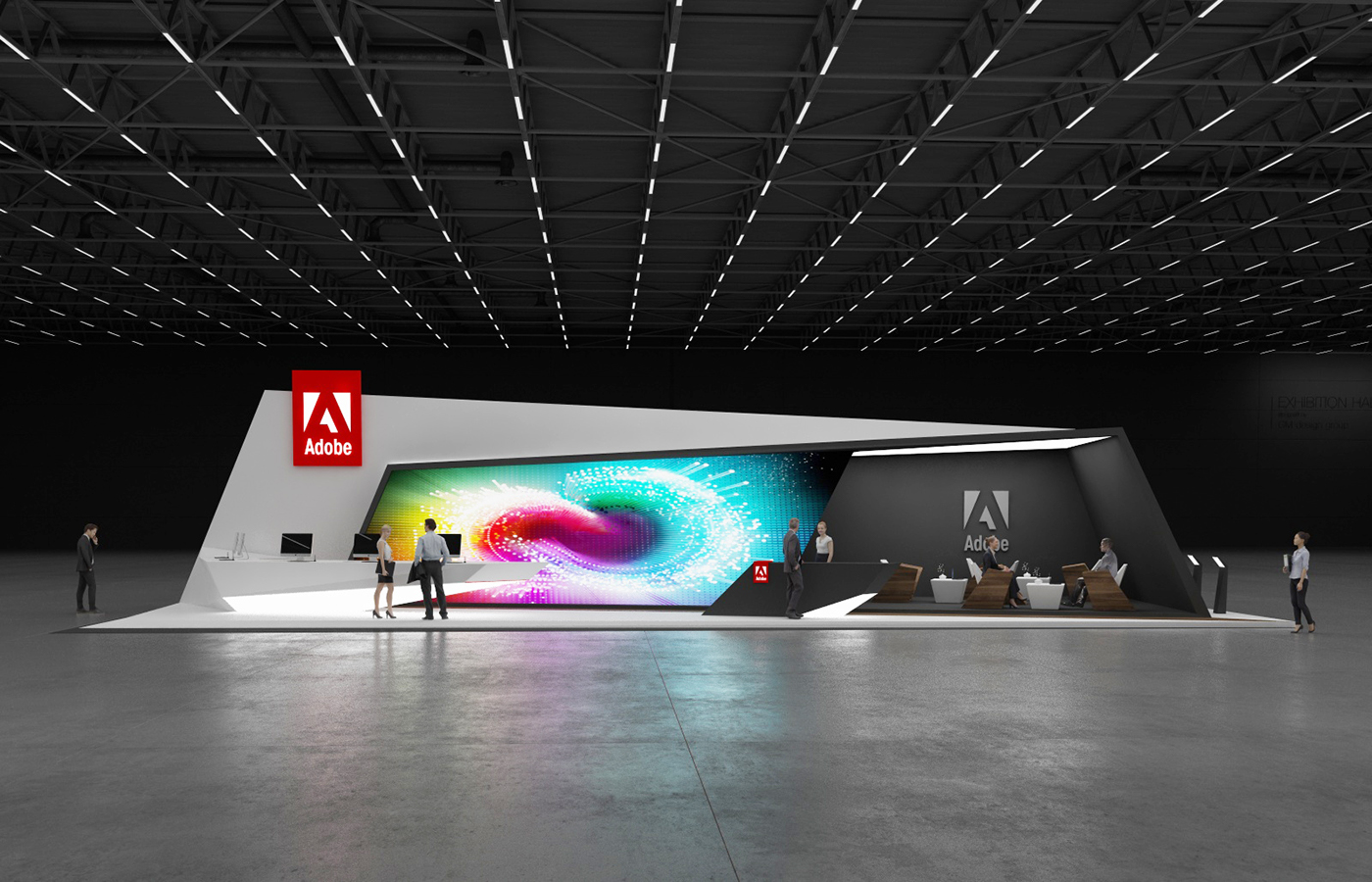Exhibition Stand Lighting Game : Adobe exhibition stand on behance