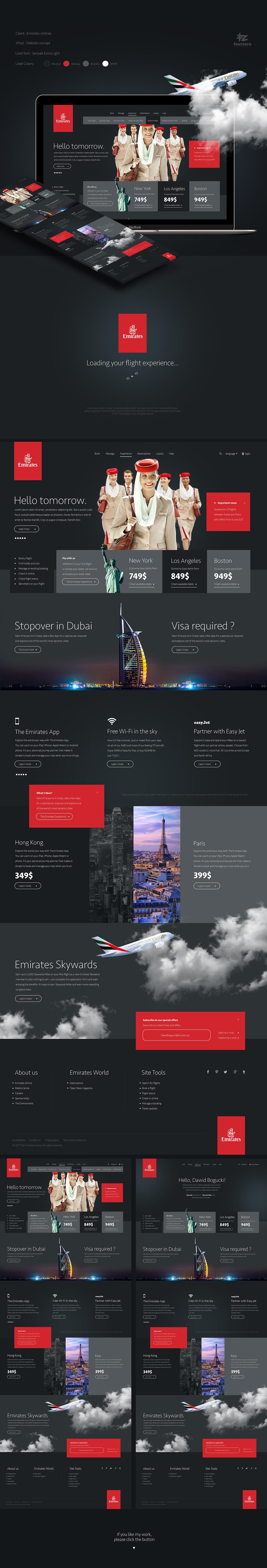 Web Webdesign UI ux emirates elegant design poland clean minimal