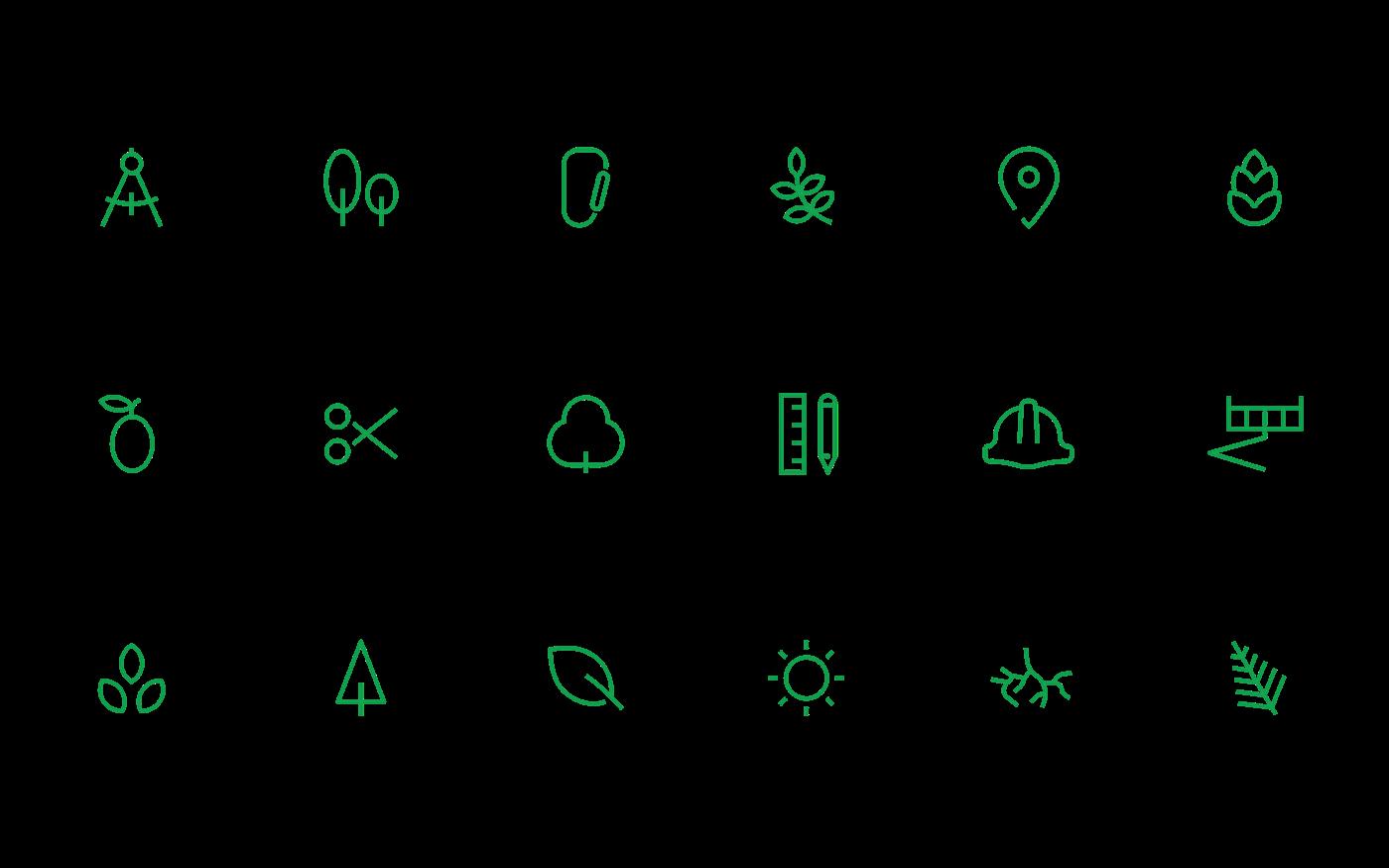 green brand logo Logotype Landscape garden identity stationary