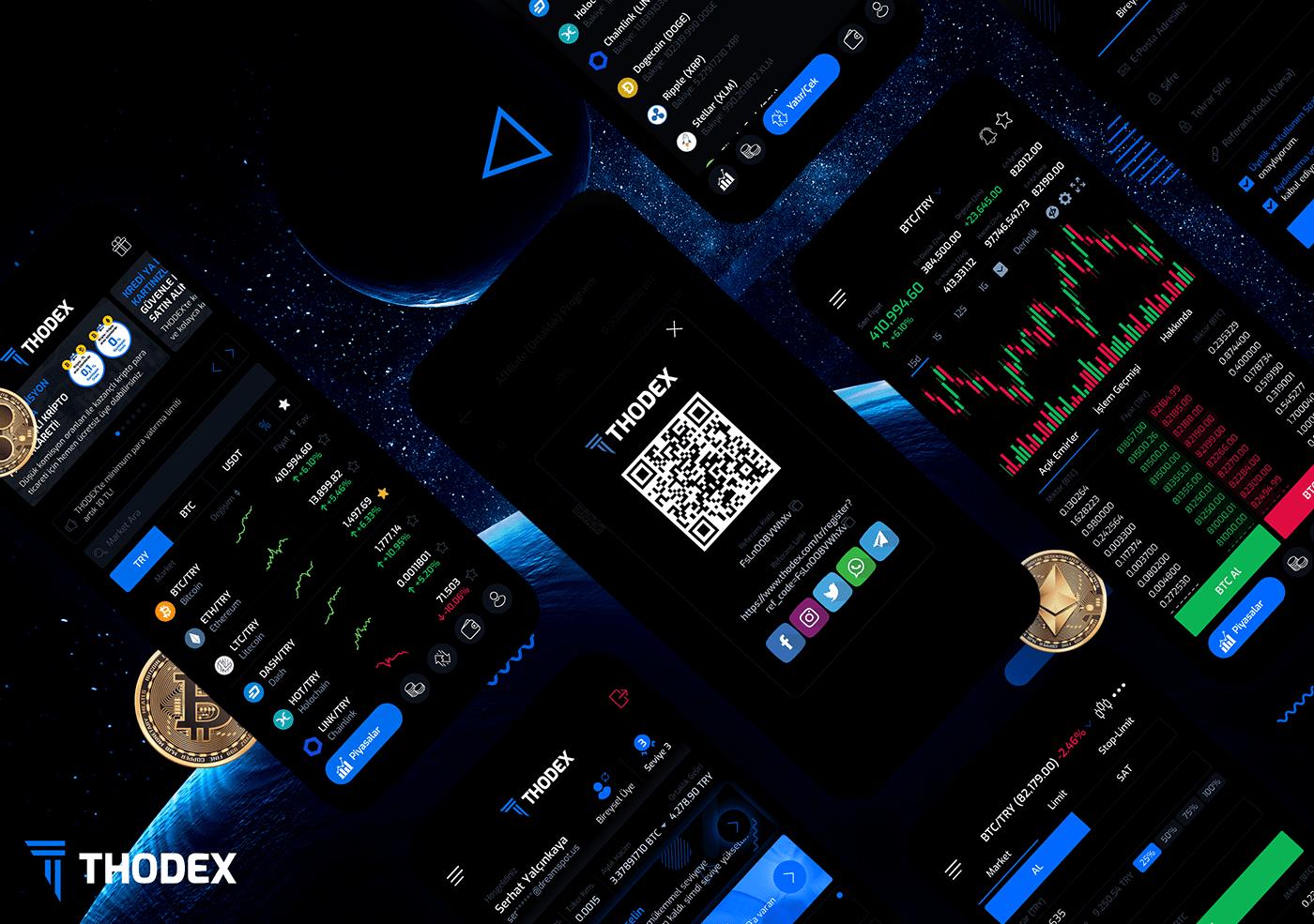 app app design bitcoin cryptocurrency exchange thodex UI ui design WALLET