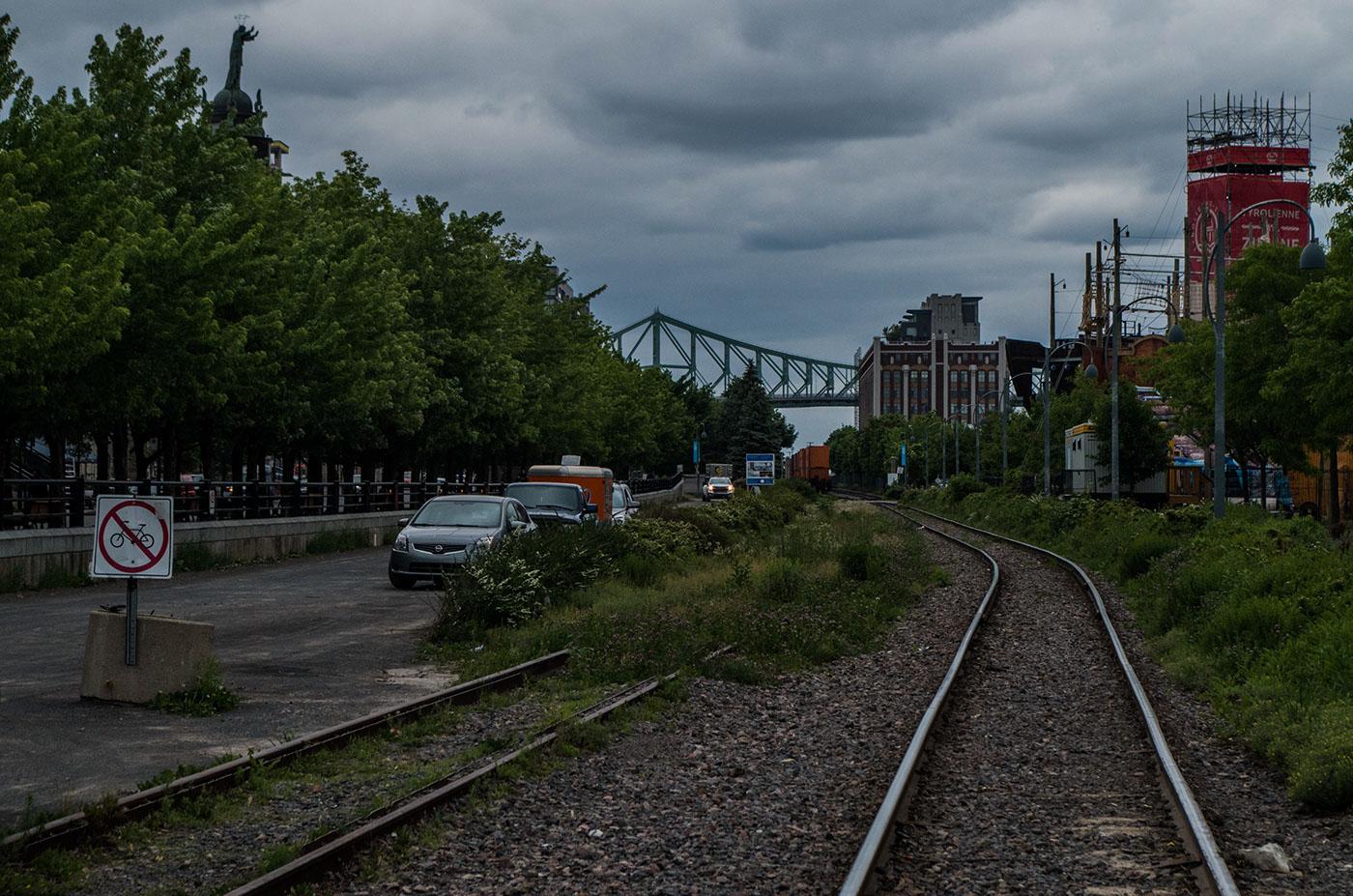 Old Port train tracks.