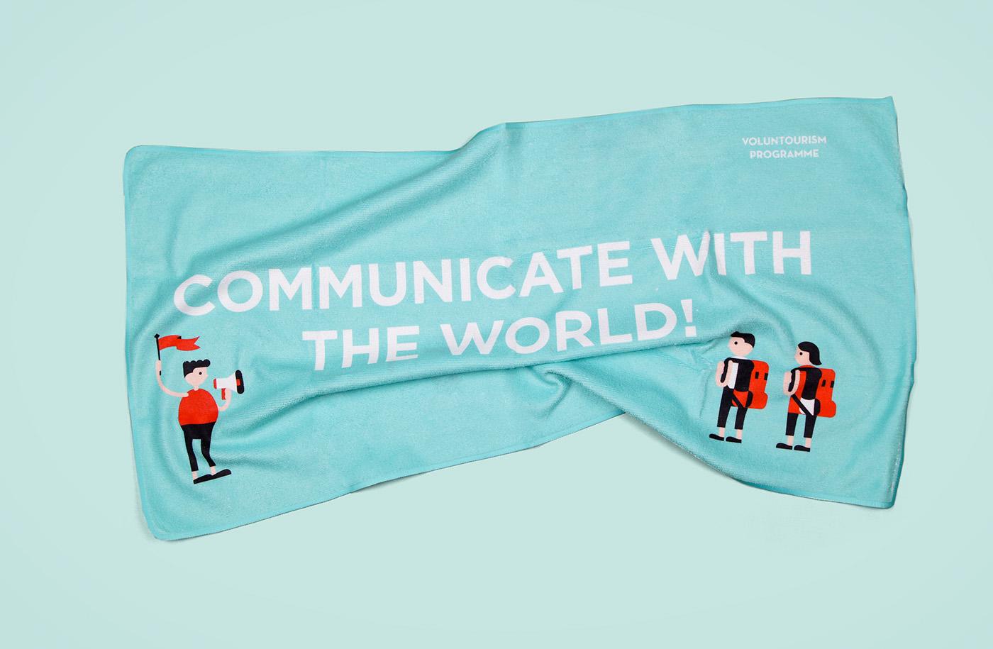 voluntourism Macao workcamp branding  Illustrator graphic design product poster untitledlab