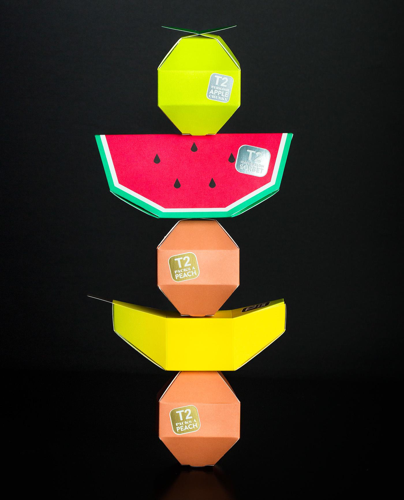 Packaging graphic design  design tea print graphic colour Fruit