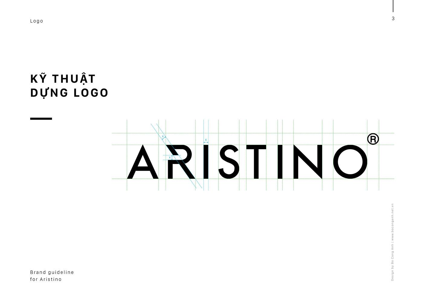 Brand Guideline fashion logo brand identity logo creative boconganh design agency vietnam branding  visual design