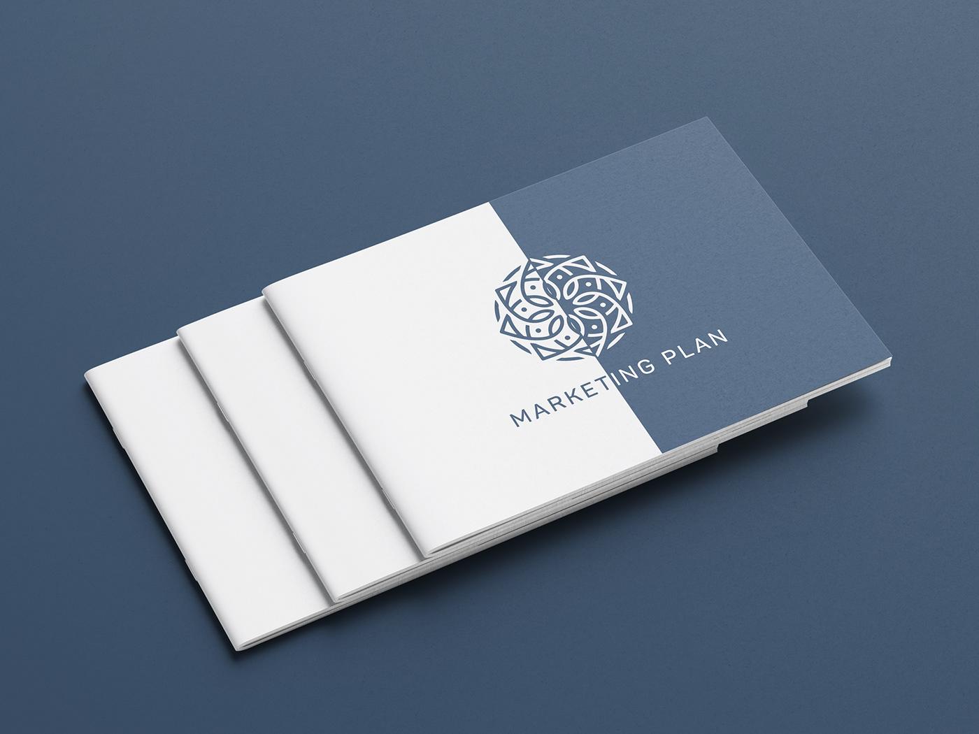 Booklet brochure catalog marketing plan
