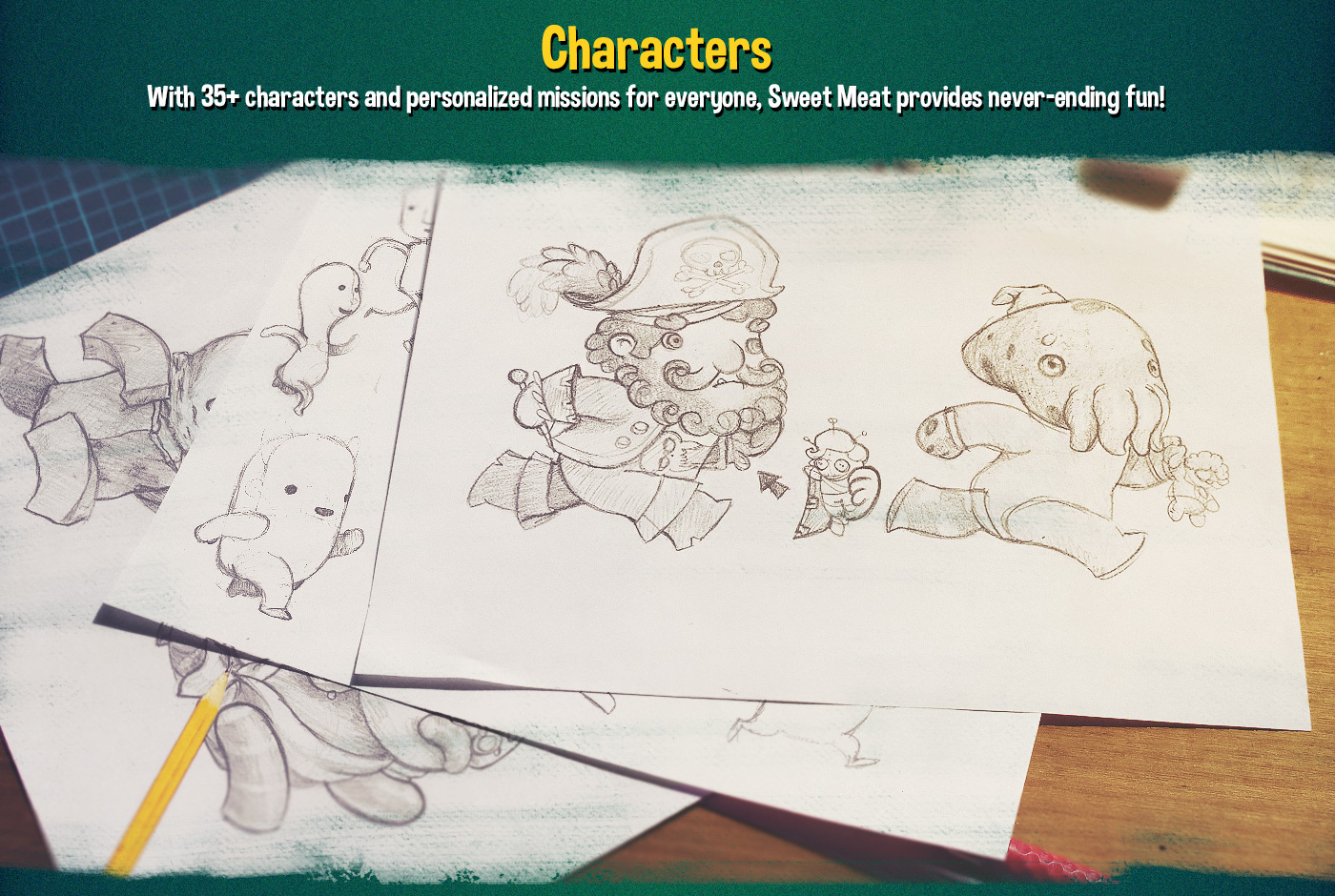 ios android game runner cartoon twitter ILLUSTRATION  wacom Drawing  Character