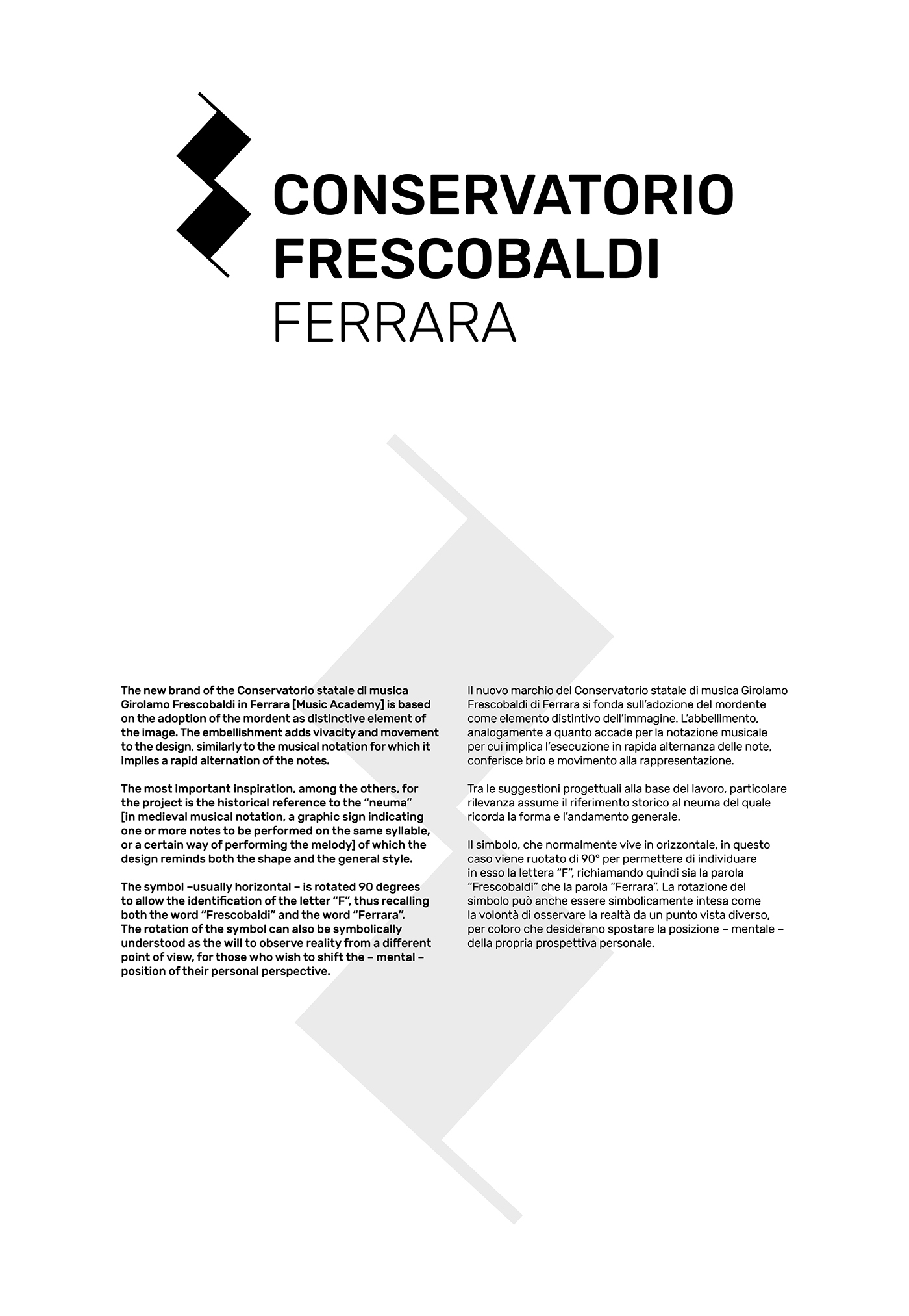 Conservatorio Frescobaldi Ferrara On Behance