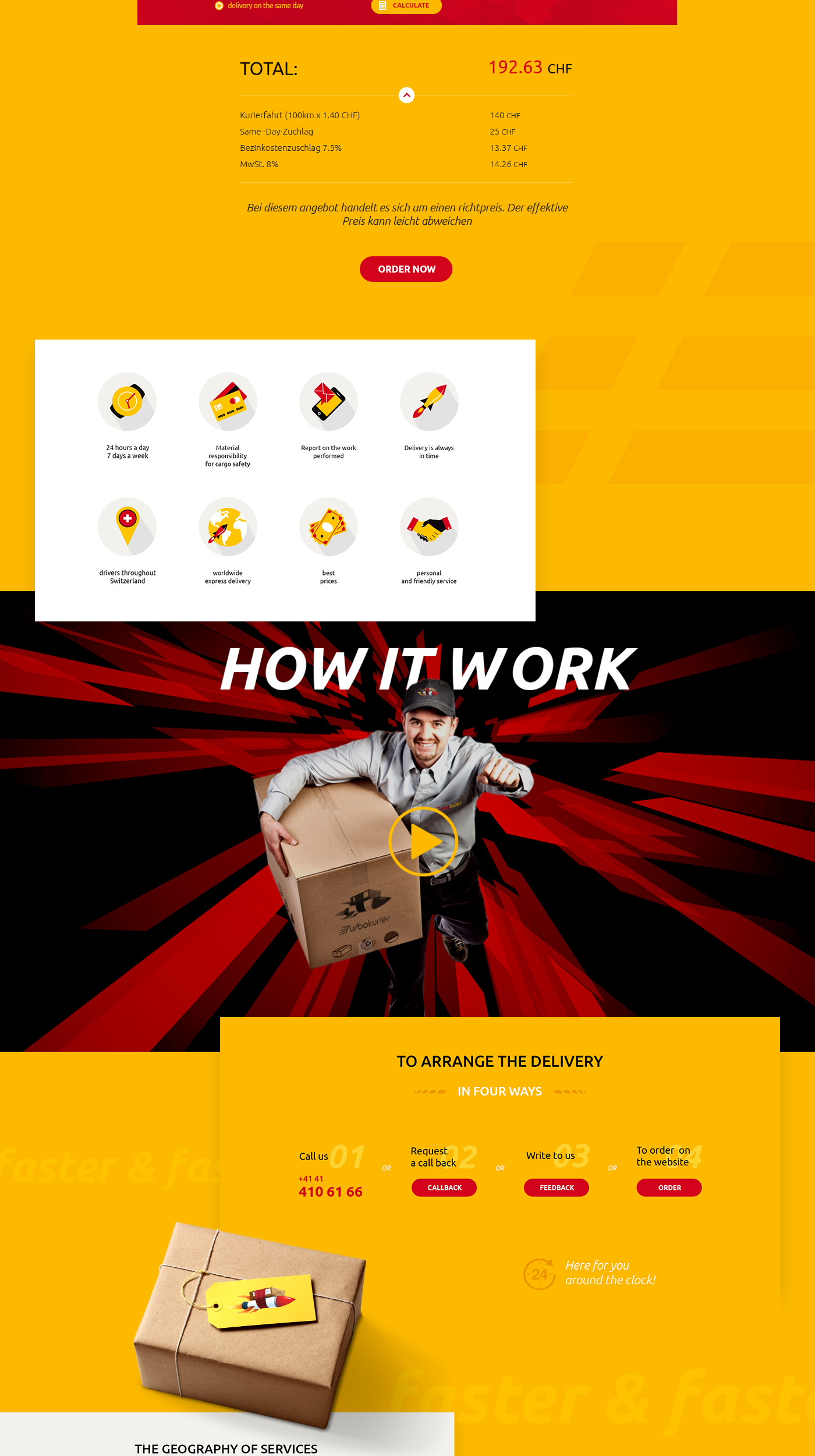 Web delivery courier logistic