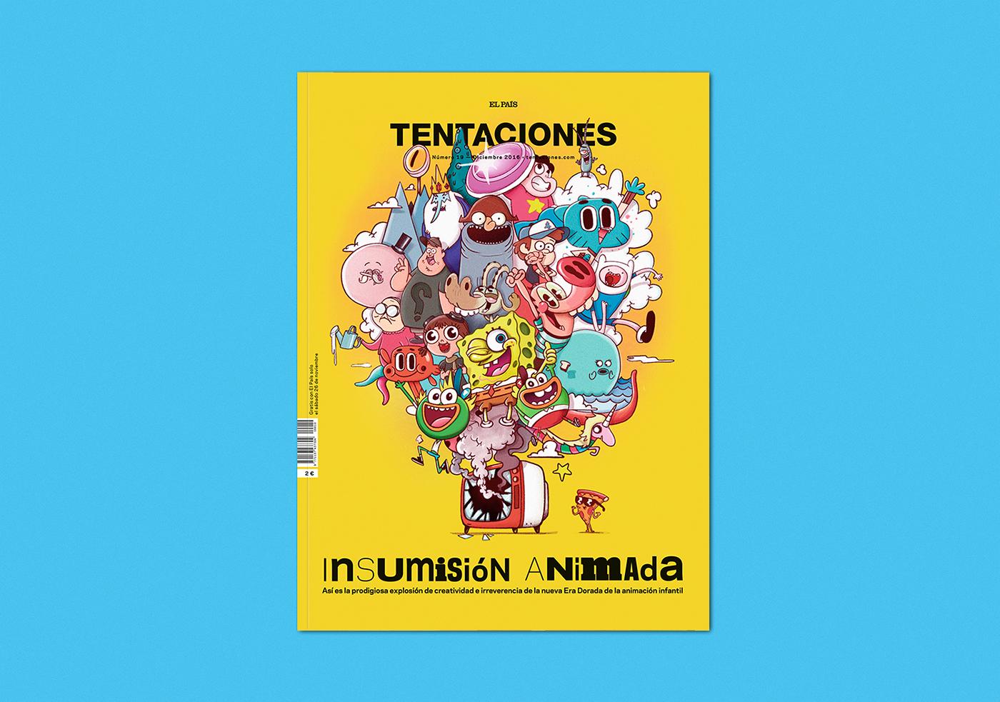 magazine,tentaciones,Adventure Time,Gumball,regular show,adam driver,roberta vázquez,andrés magán,oscar llorens