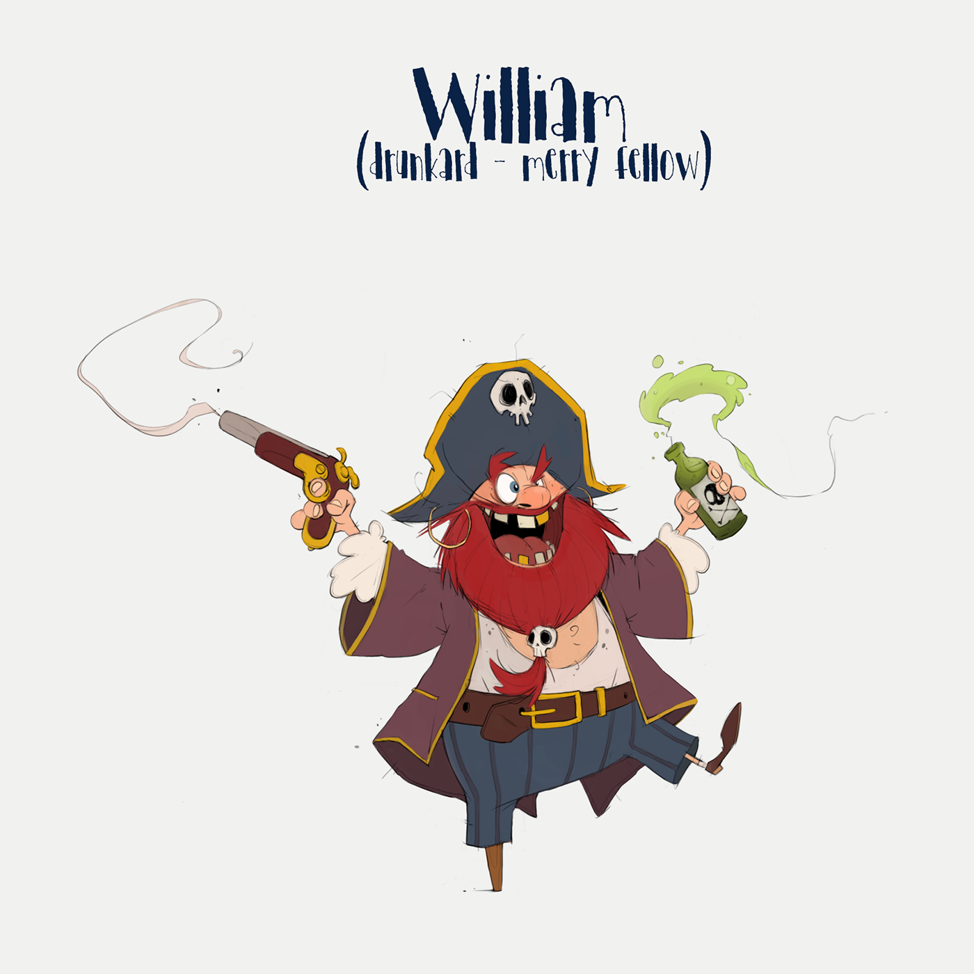 pirates Character creature Character design  sketch art ILLUSTRATION