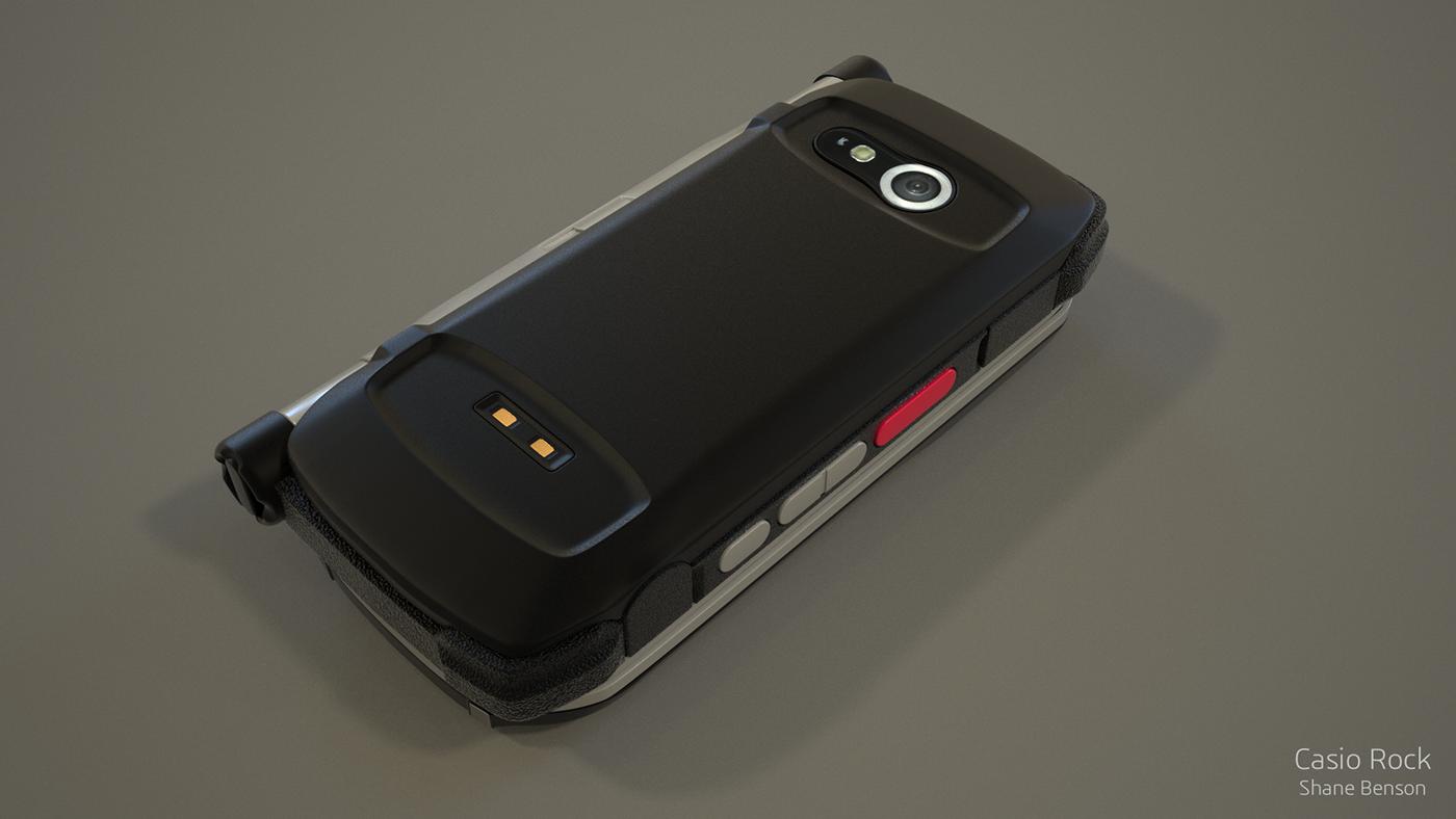 3D Casio verizon phone c4d cinema 4d