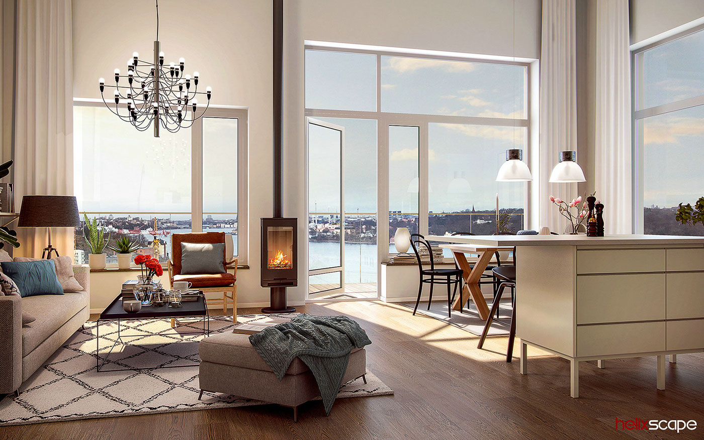 architectural visualization 3D Rendering Interior design