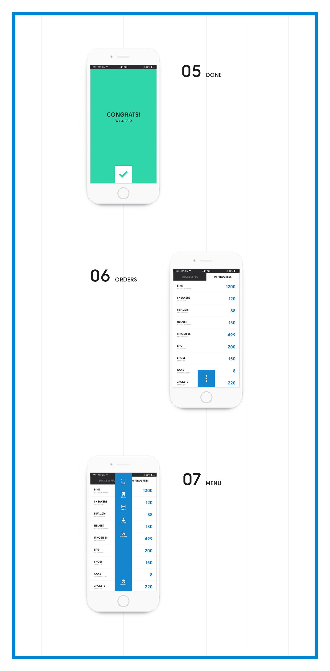 ios app Pay ux UI design mobile payment