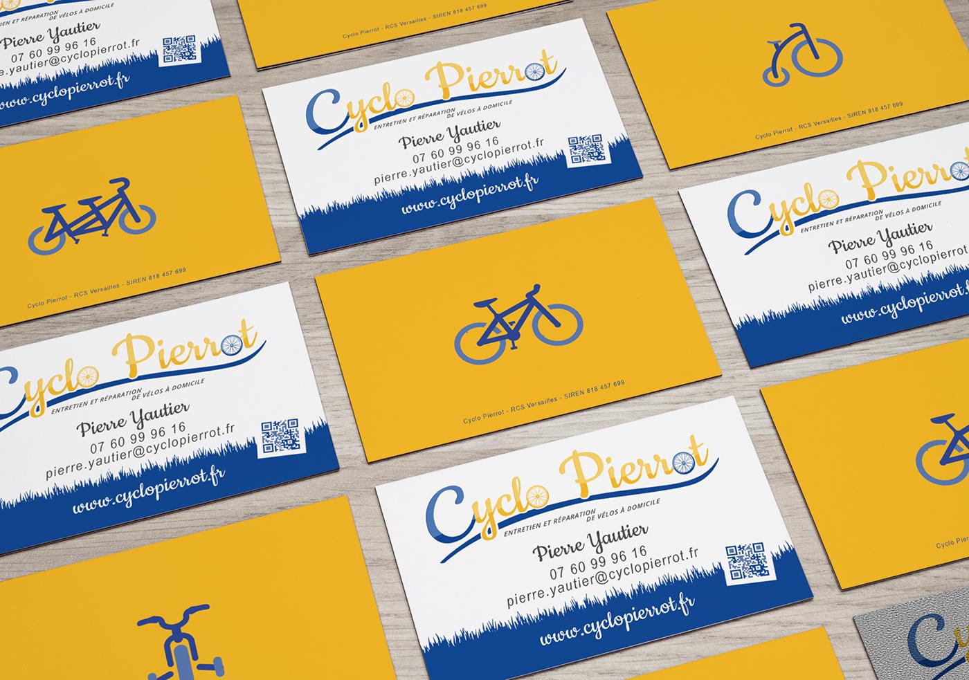 Cartes De Visite Pour Cyclo Pierrot Une Sympathique Entreprise Rparation Cycles Domicile