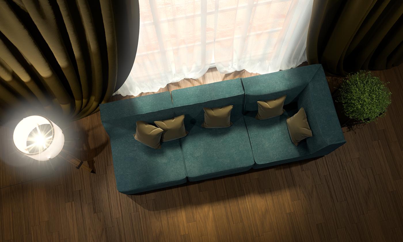 Iluminación Interior lampara sofa