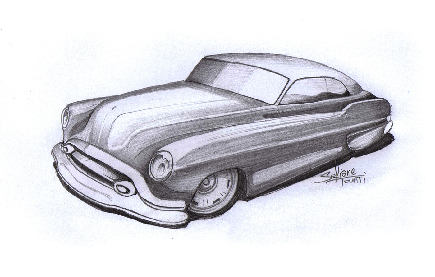 It is a picture of Critical Drawing Of Hot Rods