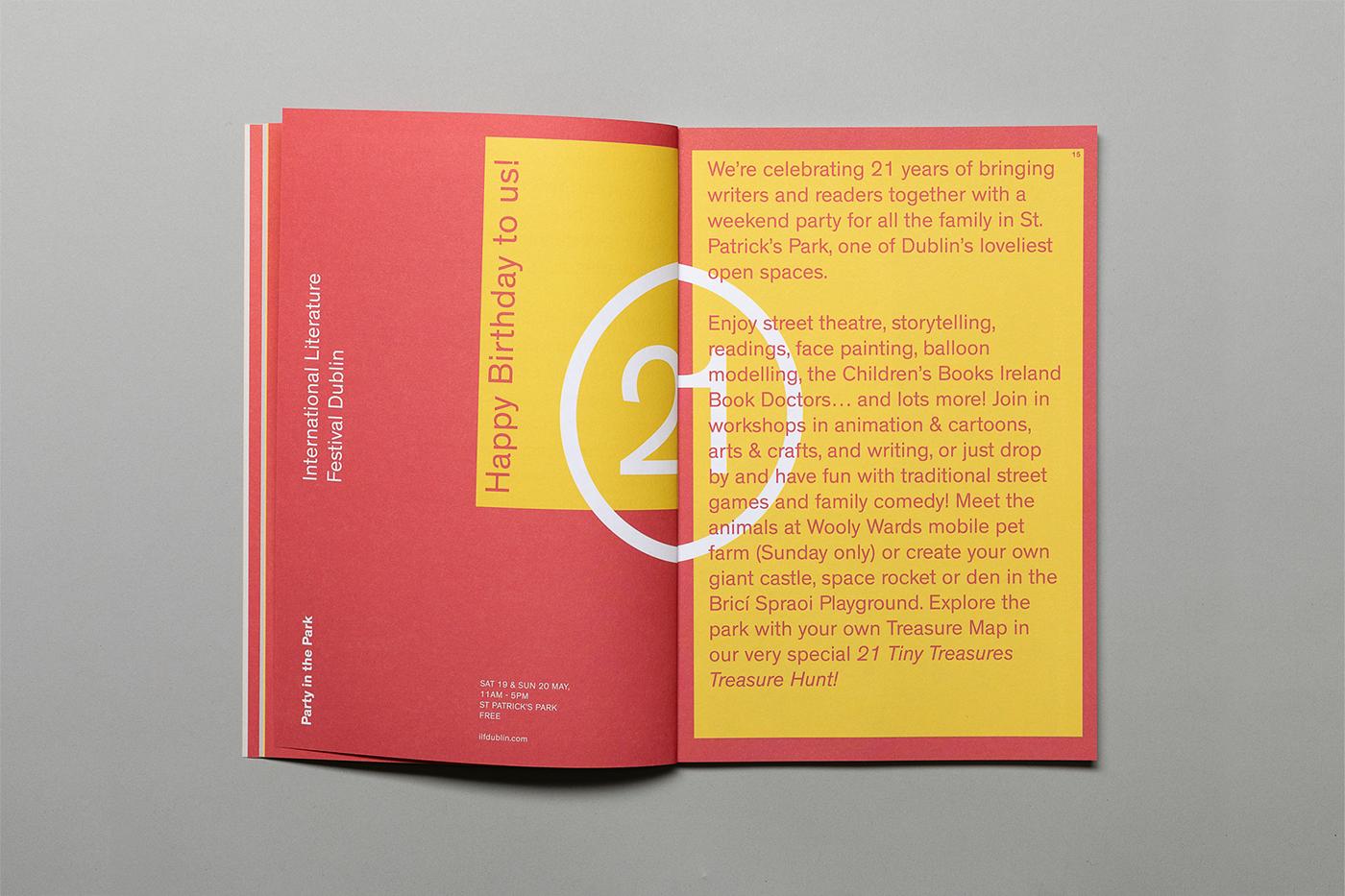 book literature books festival dublin branding  print design  Ireland editorial poster