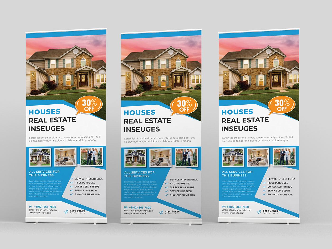 Real Estate Roll Up Banner Design On Behance